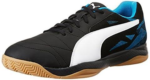Puma Unisex-Erwachsene Veloz Indoor Iii Fußballschuhe, Schwarz (Puma Black-Puma White-Blue