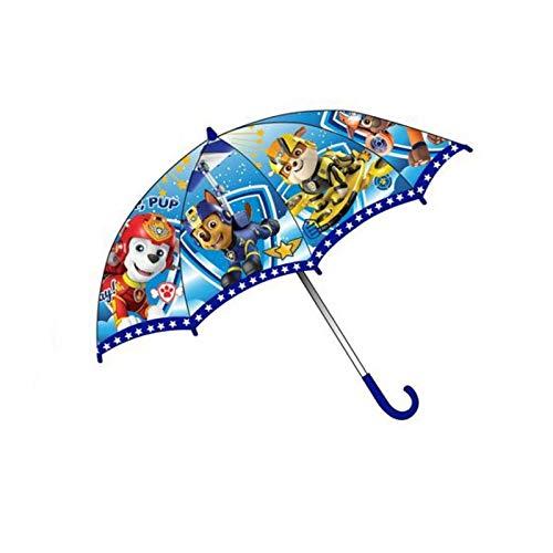 Paw Patrol Regenschirm für Kinder, Stockschirm, 69 cm, blau, Polyester