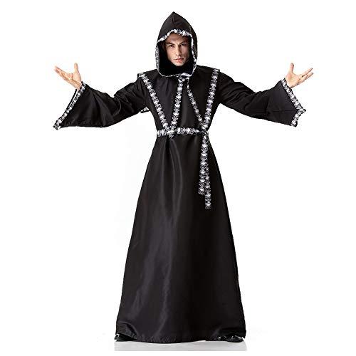 Costour Herren Anzug Halloween Kostüm Tod Vampir Skelett Zauberer Cosplay Party Verkeidung
