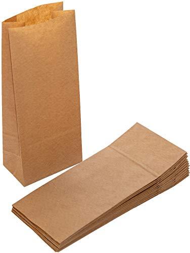 rtüten Kraftpapier Braun, 10 x 24 x 6 cm, Kleine Blockbodenbeutel zum Befüllen | Ostern | Mitgebsel ()