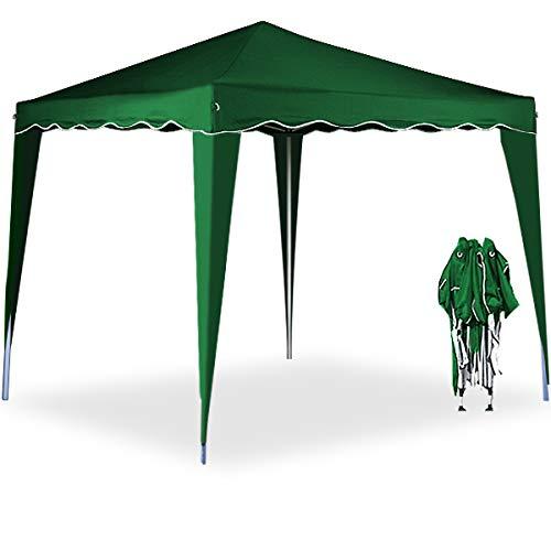 falt pavillion Deuba® Pavillon Capri 3x3m | wasserdicht | Pop-Up | inkl. Tasche | UV-Schutz 50+ | Faltpavillon Gartenzelt Partyzelt | grün | Farbauswahl