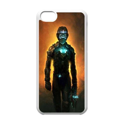 Dead Space coque iPhone 5C Housse Blanc téléphone portable couverture de cas coque EBDXJKNBO13054
