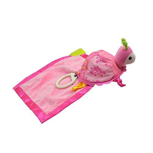 Dearmy Baby Super Weich Saugfähig Komfort 3D Schön Schildkröte Ausgestopft Tiere Spielzeug Säugling Beschwichtigen Begleiten Handtuch Intelligent Entwicklung Spielzeug Geschenk mit Beißring (Rosa)