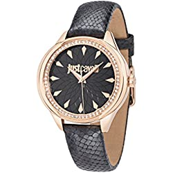 Just Cavalli Women's Quartz Watch with Silver JC01 Analog Quartz Leather R7251571501
