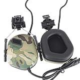 Gocher Auriculares tácticos Captura de Sonido Orejeras de Seguridad para la versión de Casco Auriculares de reducción de Ruido con Adaptador de riel para protección auditiva Auriculares de Radio-CP