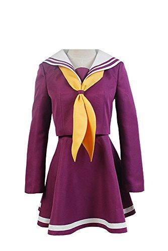 No Game No Life Shiro Sailor Suit Uniform Cosplay Kostüm Lila Damen - Shiro Cosplay Kostüm