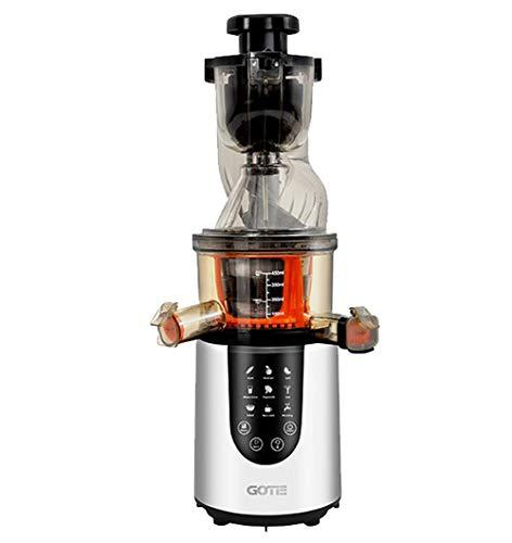 Gotie GSJ-600S Licuadora de Extracción Lenta, 200 W, 2 litros, 20 Decibeles, Acero Inoxidable, 2 Velocidades, Plateado