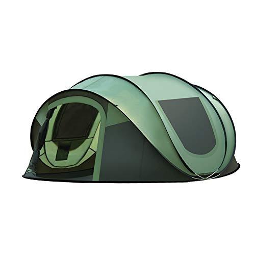 Dapengzhanchi Zelt im Freien 3-4 Personen automatische Geschwindigkeit offen Zwei Zimmer und eine Halle 2 Personen Familien Zelt-Set (Color : Brown)