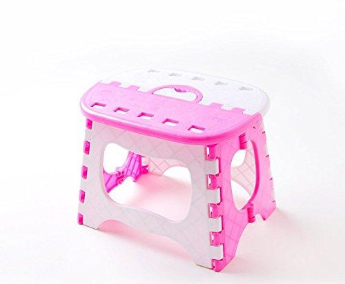 P-H Kunststoff klappbar Hocker Badezimmer Kleines Bench Kind Erwachsene Outdoor Tragbarer Klappstuhl