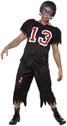 Smiffys, Herren Zombie American Footballer Kostüm, Oberteil, Hose und Helm, Größe: S, 32908