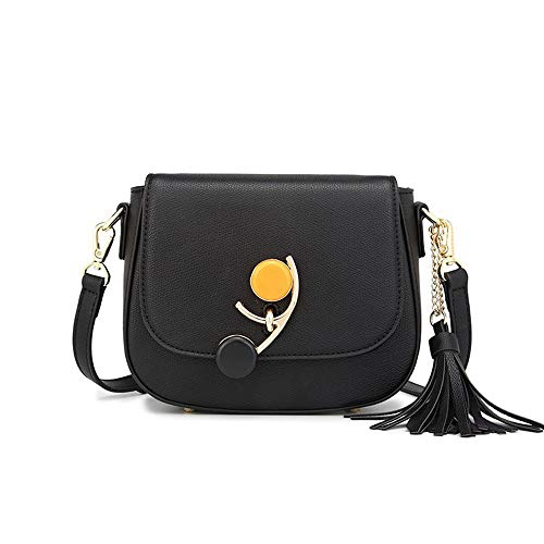 JKLP Satteltasche Mode Quaste eine Schulter geschlungene Handtasche -