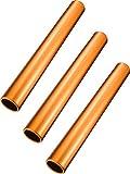 Zhehao Bâton de Relais Baton de Piste en Aluminium Matraques de Course Batons de Course pour Étudiants Bureau Outils de Course en Plein Air (Orange, 3 Pièces)