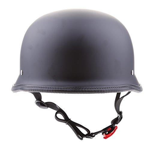 KESOTO Cappello Universale Omologato Nero Opaco Approvato Dal Cappello Del Motociclo - M