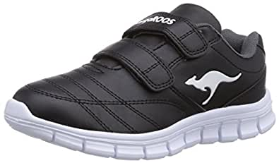 KangaROOS BlueRun 2081, Unisex-Kinder Sneakers, Grün (green/white 800), 37 EU