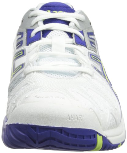 Asics Damen Gel-Resolution 5 Sneaker Blanc / Bleu / Plata