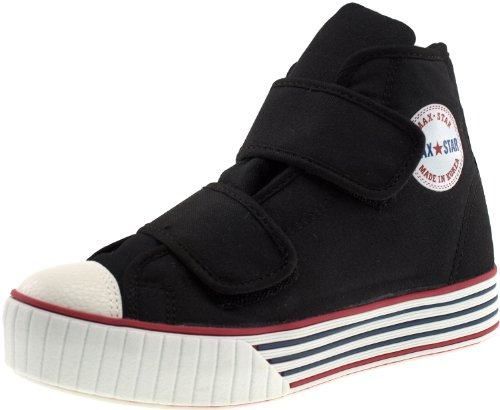 C30–Maxstar bandes Velcro avec plateforme Baskets Chaussures en toile Noir - noir
