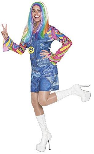 Hippie Weibliche Kostüm - Fyasa 706455-T04 Hippie Cowgirl Kostüm für 12 Jahre, Mehrfarbig, Größe L