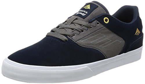 Emerica the Reynolds Low Vulc Navy Grey, Chaussures de Skateboard Homme Multicolore (Navy Grey 407)