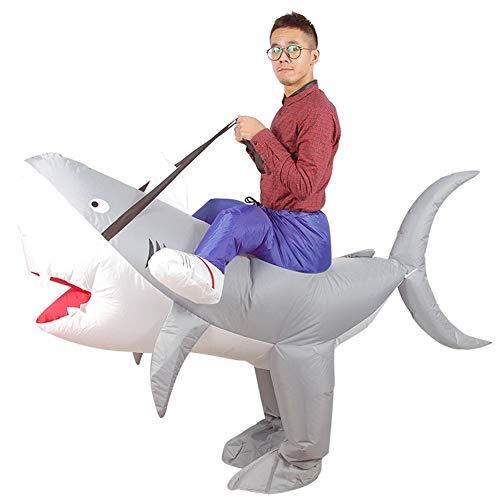 Hai Pet Kostüm - großer Hai Aufblasbares Kostüm für Erwachsene Tierisches aufblasbares Kostüm Halloween Kostüm für Herren
