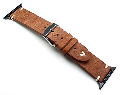 Sulla Herren Leder Uhrenarmband Apple Vintage Watch Ersatzband