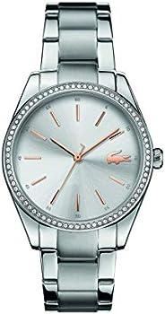 ساعة بحركة كوارتز وعرض انالوج وسوار ستانلس ستيل للنساء من لاكوست، موديل 2001083