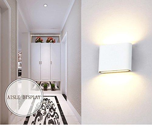 Glighone wandleuchte led innen aussen up down modern 6w warmwei aluminium sconce wandleuchte - Wandleuchte modern wohnzimmer ...