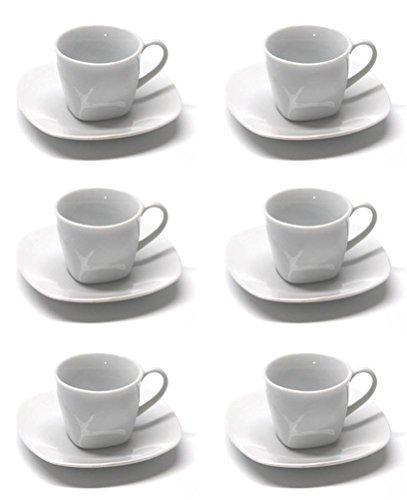 12tlg. Set Espressotassen Porzellan Bisto - Venezia thumbnail