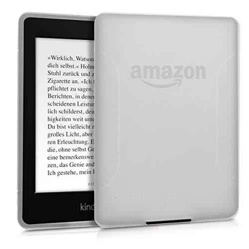 kwmobile Funda para Amazon Kindle Paperwhite - Carcasa Protectora de [TPU] para e-Book - Protector [Trasero] de e-Reader en (para Modelos hasta el 2017) [Transparente Mate]