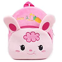 25 Styles Baby Cute Cartoon Plush Backpack Toddler Shoulder Bag School Bags 1-3Year (Rabbit)