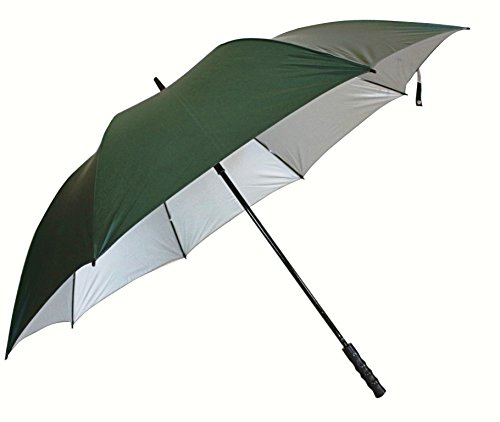 Sun Jumbo Size (2- Person) Auto Open Green Umbrella