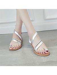 19563104969 Zapatos con flip-flop Sandalias planas Mujer Verano Sandalias de tacón bajo  y bajo plano