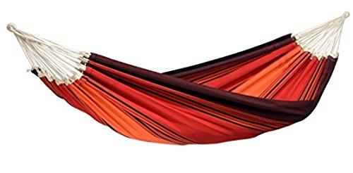 AMAZONAS XXL Komfort Hängematte Paradiso Terracotta handgefertigt in Brasilien 250cm x 175cm bis 200kg in Lavafarben