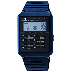 Laurens Men's L123J902Y Digital Blue Rubber Strap Multifunction Calculator Watch
