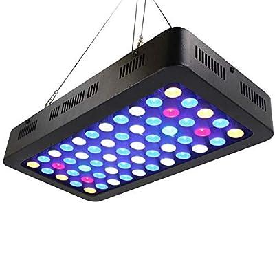 ZTJ-Lighting Lumière d'aquarium de 165W LED, lumière de Corail de Spectre Complet de Dimmable LED, 2 commutateurs pour l'aquarium Bleu-Blanc d'éclairage de réservoir d'eau salée