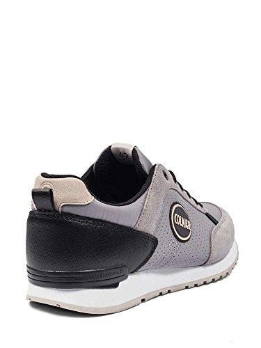 militaire TRADRI sneakers COLMAR en cuir lacets vert de larmée grey