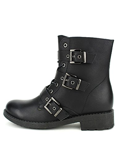 Cendriyon Bottines Noires Motarde Rocks Chaussures Femme