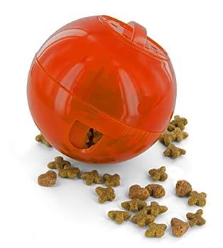 PetSafe - Jouet Distributeur de Croquettes pour Chat SlimCat, Jouet Interactif à Friandises - Orange