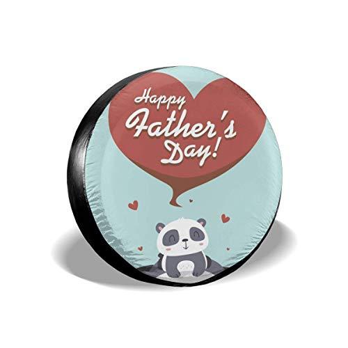 Xhayo Copri Pneumatici Borsa per Pneumatici Custodie per Pneumatici,Panda Happy Father's Day Wheel Cover Wheelcover Spare Tyre Tire for SUV,RV,Trailer,Truck Wheel - Fits Entire Wheel