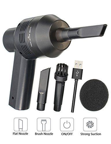 USB Tastatur Reiniger, MECO Staub Reinigungs Set Portable Tastatursauger laptop Staub clean, Reinigen die Lücke für Tastatur, Auto, Sofa und Andere Möbel - Schwarz