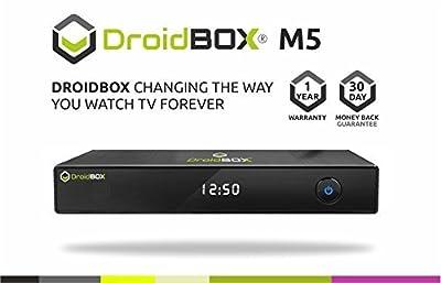 DroidBOX M5 Android TV Set Top Box with IR Remote based on KitKat 4.4.2 - Quad Core CPU 8GB ROM - Kodi 15.1 Isengard - Airplay, DLNA, Miracast