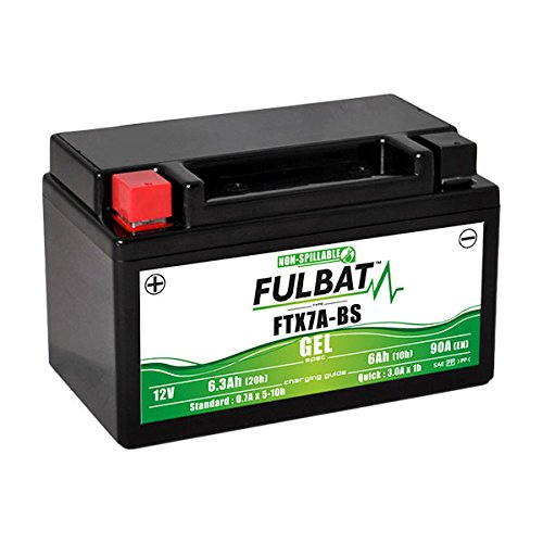 Fulbat - Batteria moto Gel YTX7A-BS/FTX7A-BS 12V 6Ah
