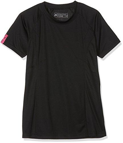 Twentyfour Damen Lauf Shirt Seven T-Shirt aus 100% Techfaser in vielen frischen Farben schwarz - Schwarz/Magenta