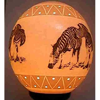 Ostrich Egg Lampshade with