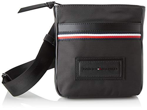 Tommy Hilfiger - Modern Nylon Mini Crossover, Shoppers y bolsos de hombro Hombre, Negro Black, 3x20x18.5...
