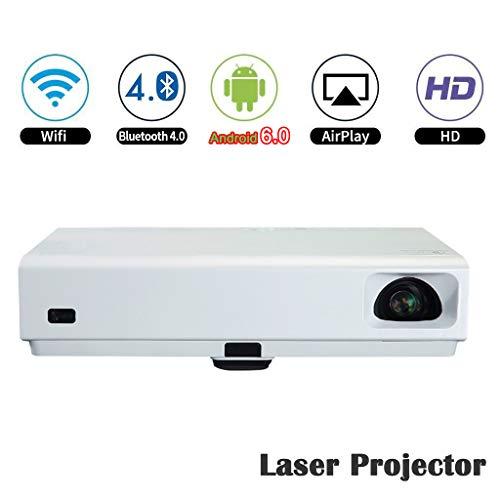 Deeirao 3D-Laser-Projektor, tragbar, Heimkino-Projektor, DLP, Mini 1080p Android6.0 Dual Band WiFi Quad Core HDMI USB3.0 Bluetooth4.0 LED und Laser - 1080p Laser-projektor