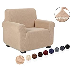TIANSHU Sesselbezüge,Spandex Sofabezug Stretch Couchbezug Elastischer Antirutsch Stretchhusse Weich Stoff,Jacquard…