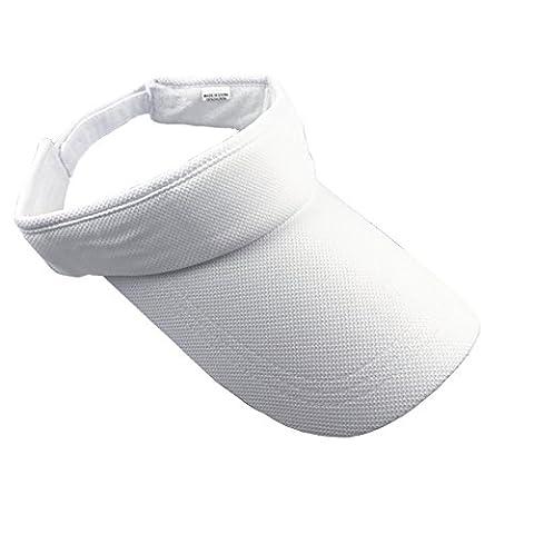 ZYHstore Unisex Sonnenblende Topless Hut Sommer Mütze Outdoor Sportarten Atmungsaktiv Langer Brim Leere Top Baseball Kappe für Herren & Damen - Weiß