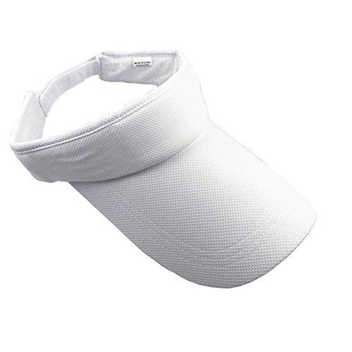 Brim Fitted Cap (ZYHstore Unisex Sonnenblende Topless Hut Sommer Mütze Outdoor Sportarten Atmungsaktiv Langer Brim Leere Top Baseball Kappe für Herren & Damen - Weiß)
