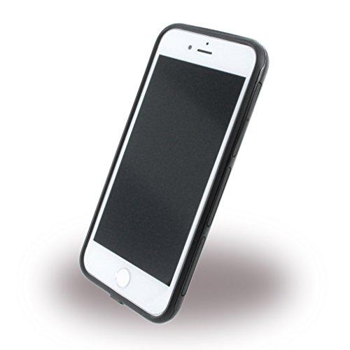 Ferrari FEHCP7BK3 Stoßfest Hart Schutzhülle für Apple iPhone 7, Bi-Material Racing Shield schwarz klar/schwarz/rot