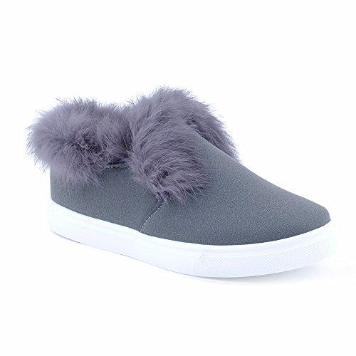 Winter Kunstfell Sneaker Warm Gefüttert Damen Casual Herbst nP0O8kw